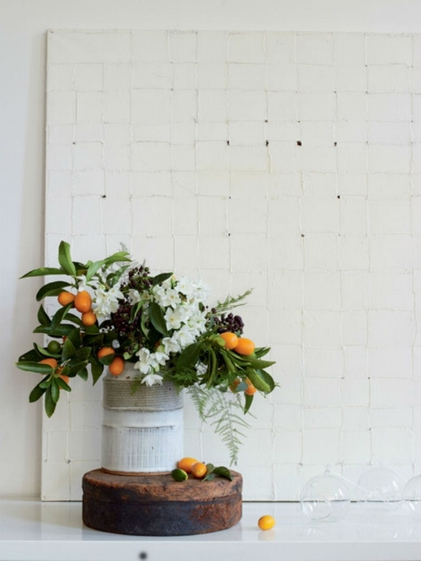 kumquats and eucalyptus leaves via  brit.co
