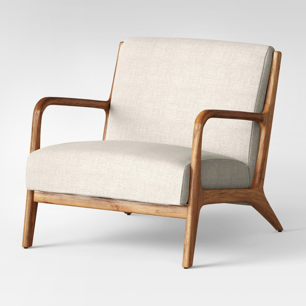 Esters Wood Arm Chair Husk
