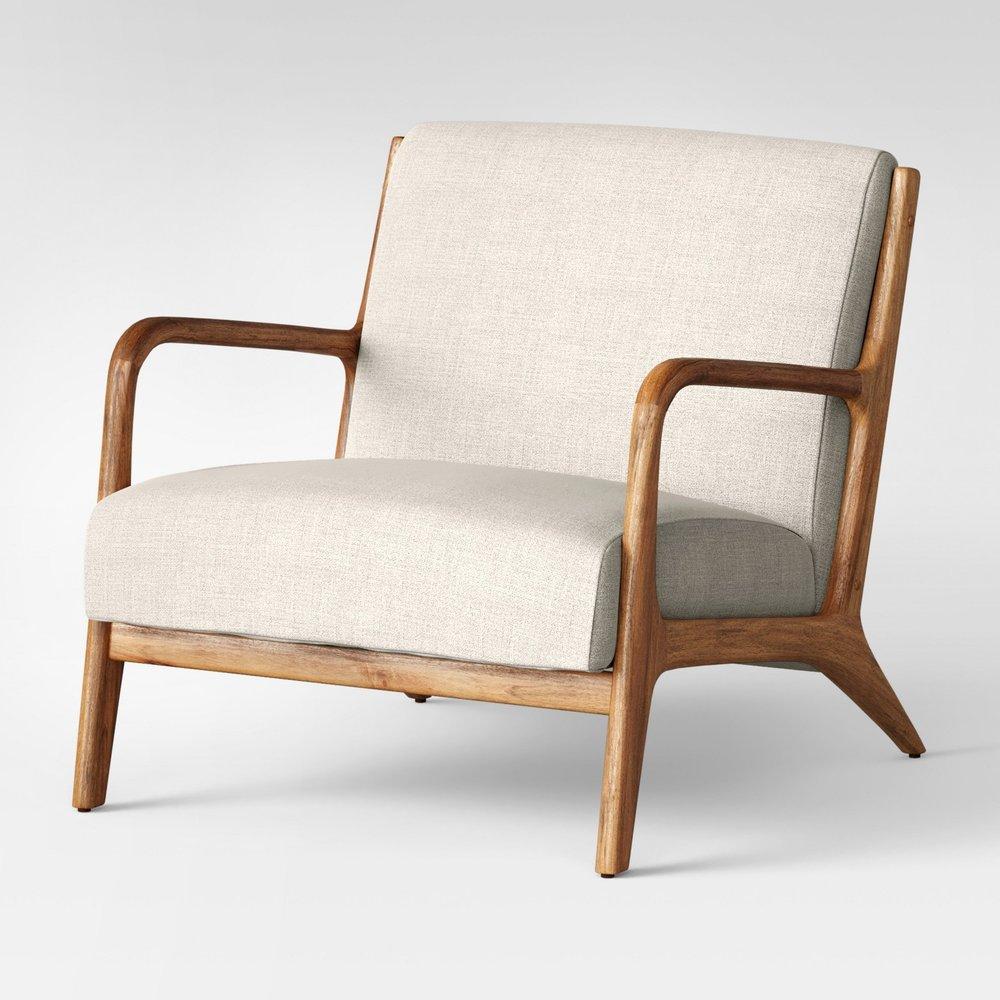 Esters Wood Arm Chair Husk