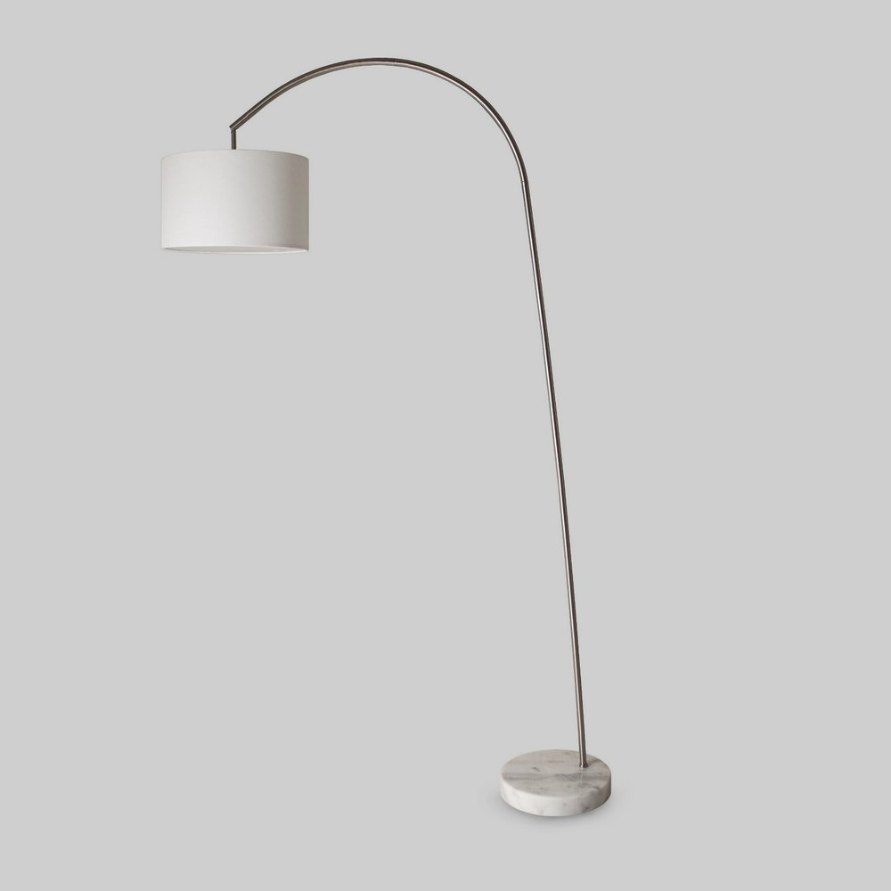 Shaded Arc Lamp with Marble Base