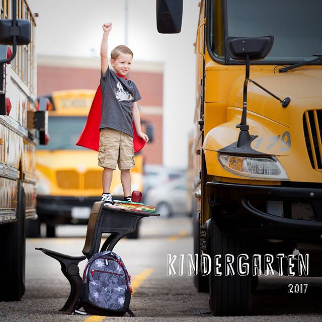Watch out kindergarten here we come! #rykerdude #naturallight #backtoschool #catandjack #target #schoolbus #kidsofinstagram #canon #camilledavisphotography