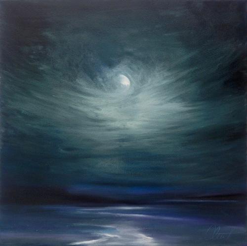 """Silver Moon"" oil on canvas 36X36"""