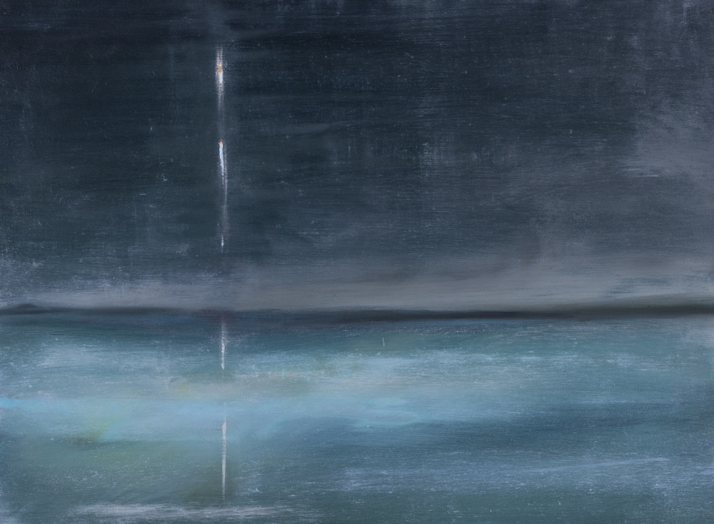 """Frozen Star"" oil on wood 18""x24"""