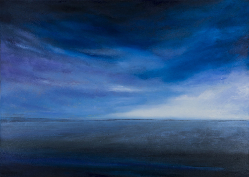 """Land Sea and Sky"" oil on canvas 30""x42"""