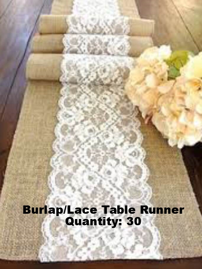 Burlap/Lace Table Runner
