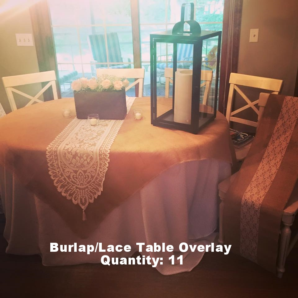 Burlap/Lace Table Overlay