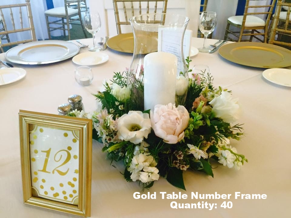 Gold Table Number Frame