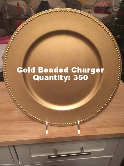 Gold Beaded Rim Charger Plate