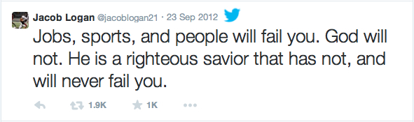 Jacob's Tweet, September 23, 2012