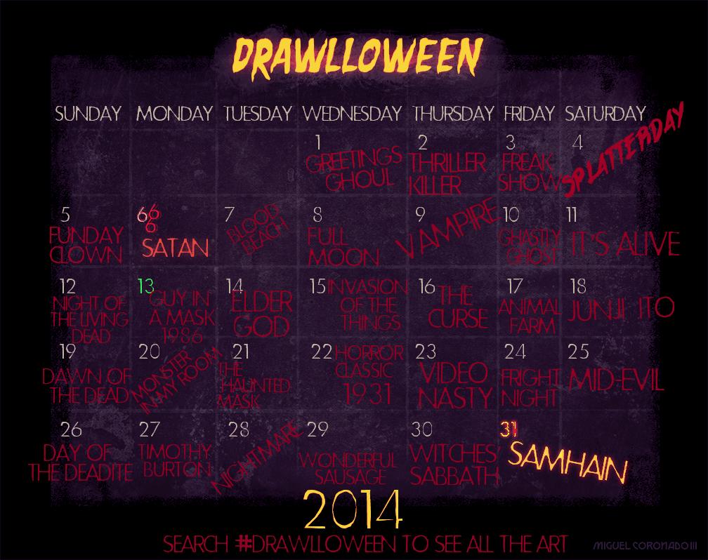 Drawlloween2014Calendar