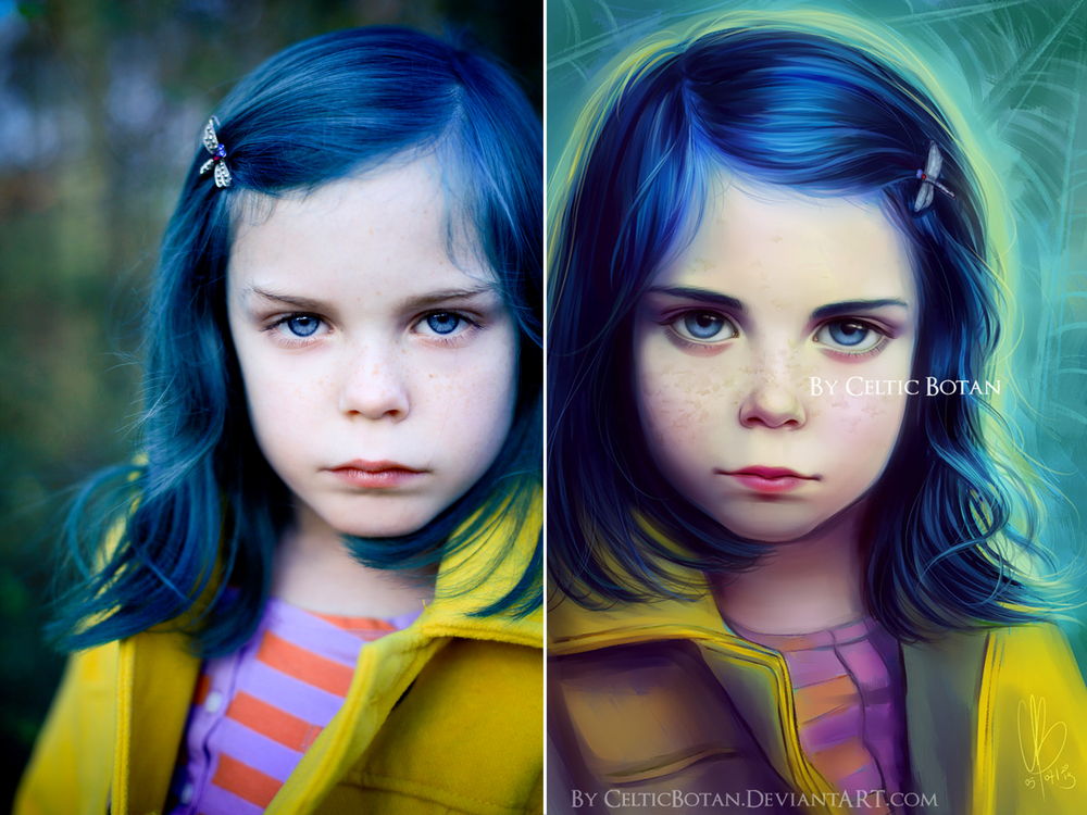 Alice Lewis as Coraline Painted by Celtic Botan