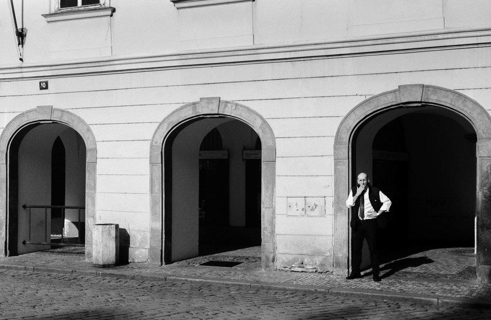 Shopkeeper, Old Town, Prague