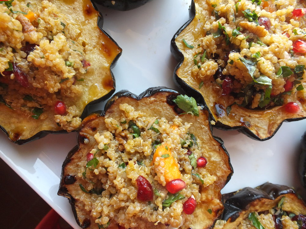 Stuffed Acorn Squash - The Vibrant Kitchen & Home