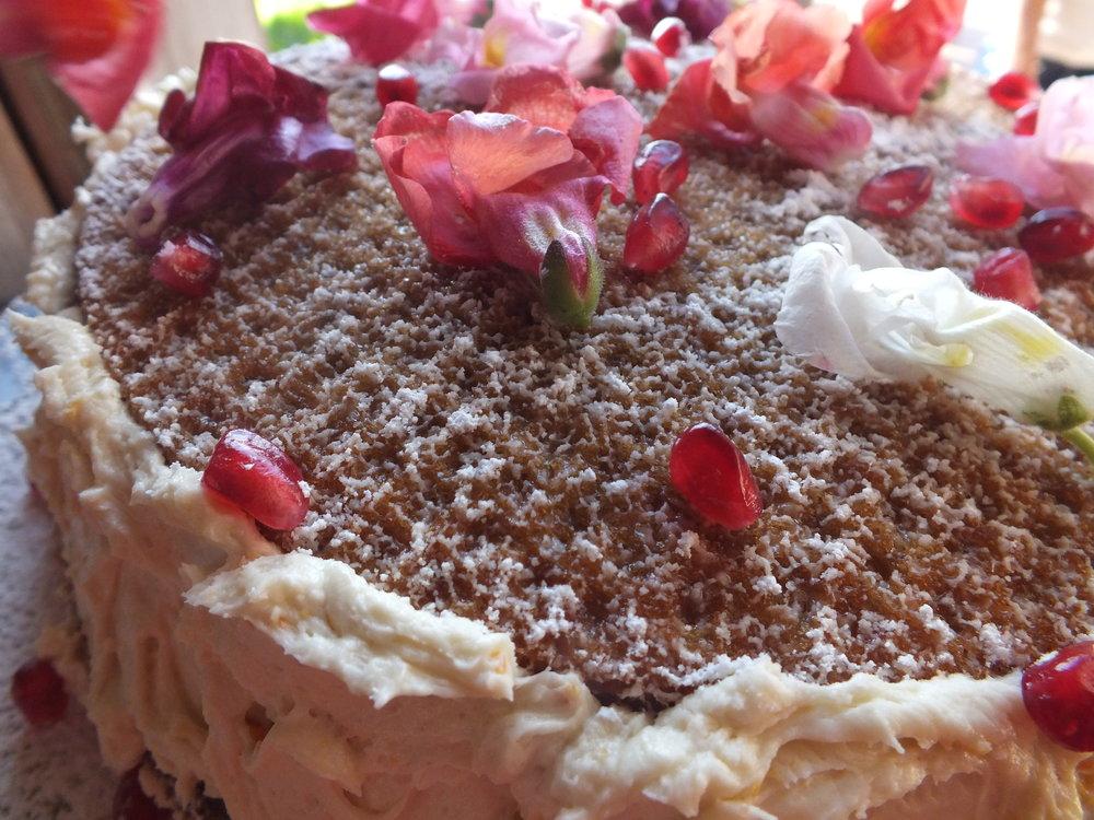 Butternut Squash + Mandarin Cake GF/Vegan