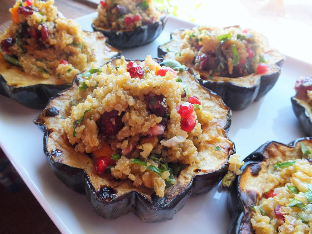 Winter Quinoa Stuffed in Acorn Squash
