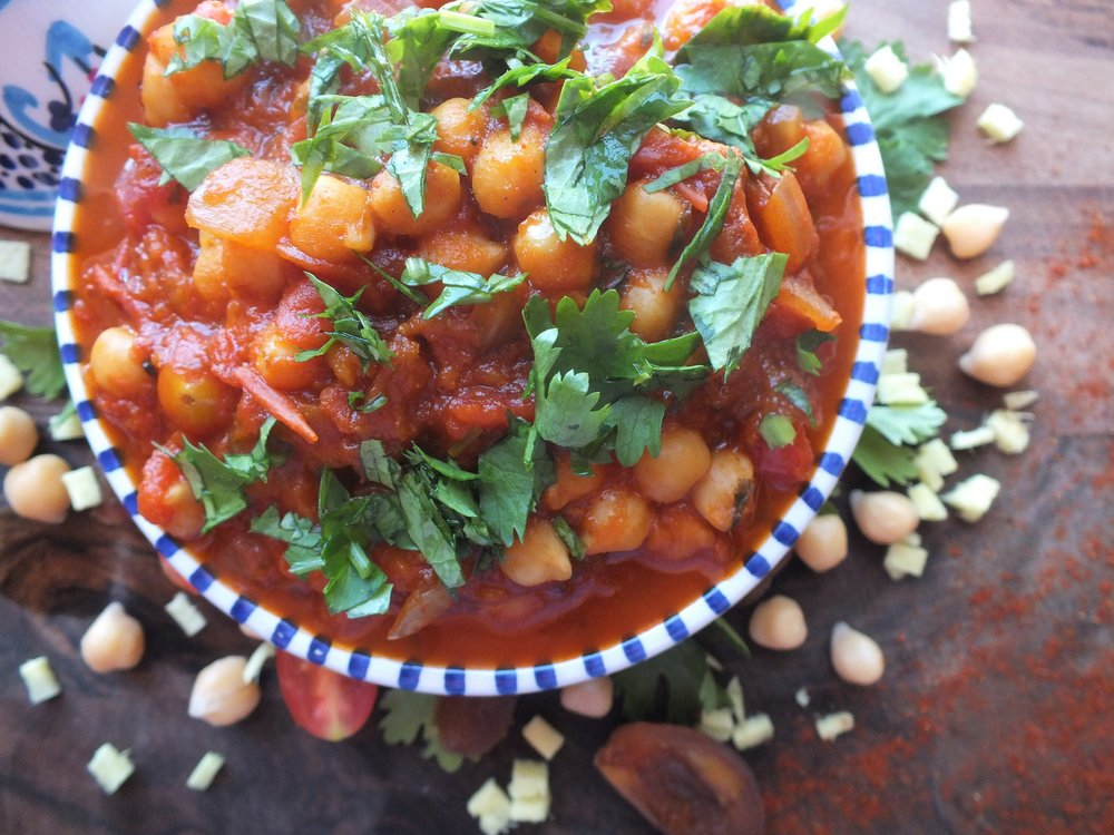 Chickpea and Apricot Tagine