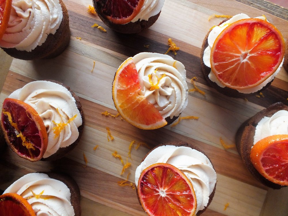 Blood Orange and Olive Oil Cupcakes