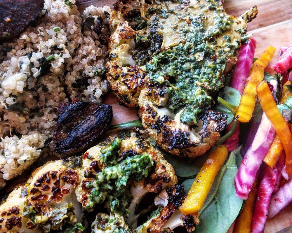 Chimichurri Cauliflower Steaks
