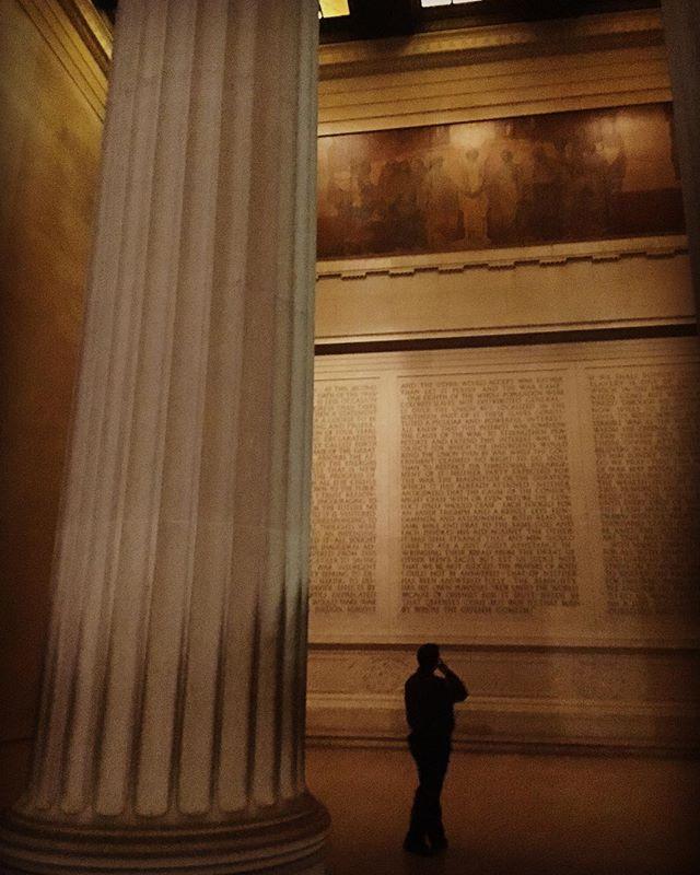 just a man and the emancipator's second inaugural address #lincoln #washingtondc #tomanowar