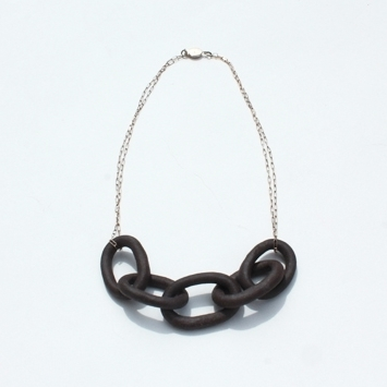 Stoneware Chain Necklace