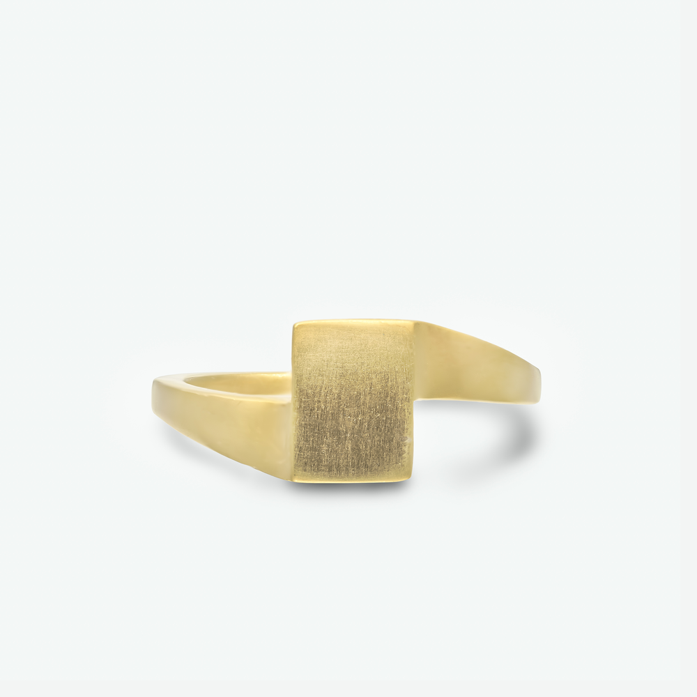 A unique wedding ring composed of 14k yellow gold, will make your wedding band stand out.