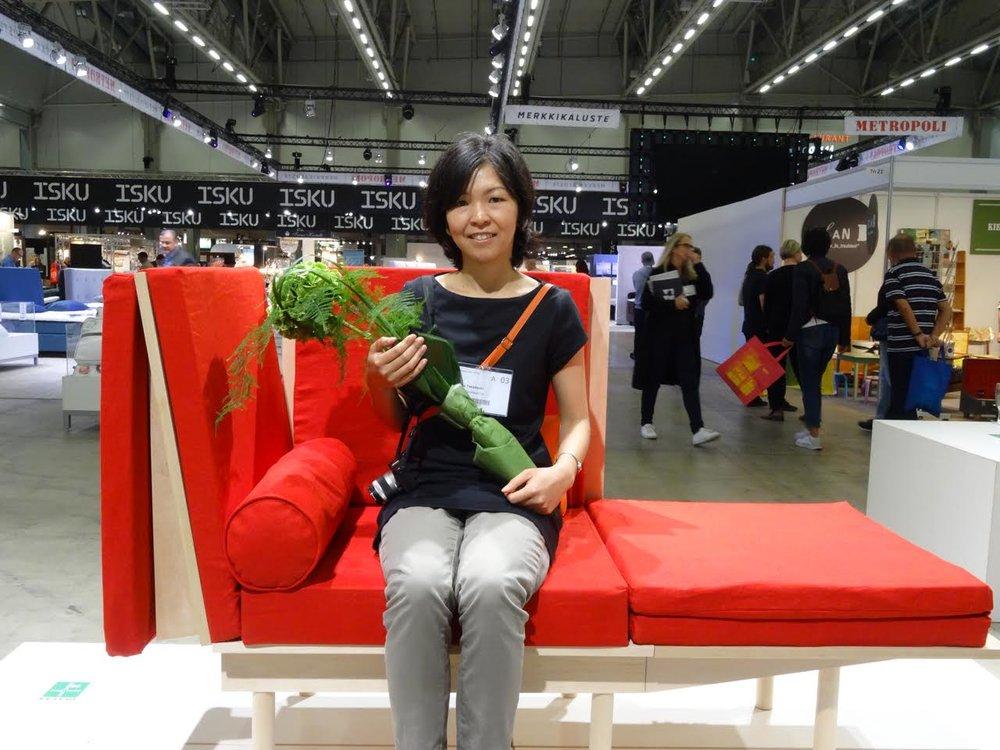 Suunnittelija Yuka Takahashi voitti 2 000 euron palkinnon.