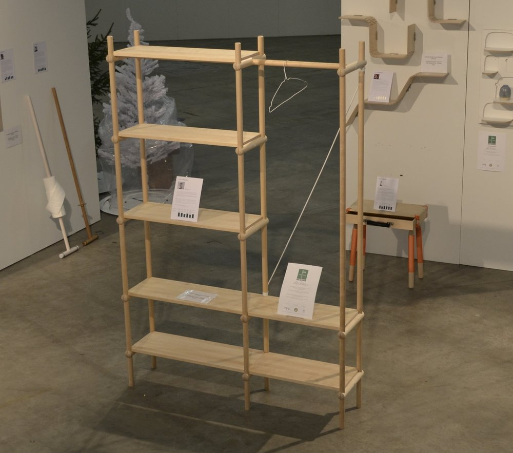Aleksi Peltonen, CLAMP-bookshelf. Fair Foundations 2000€ award