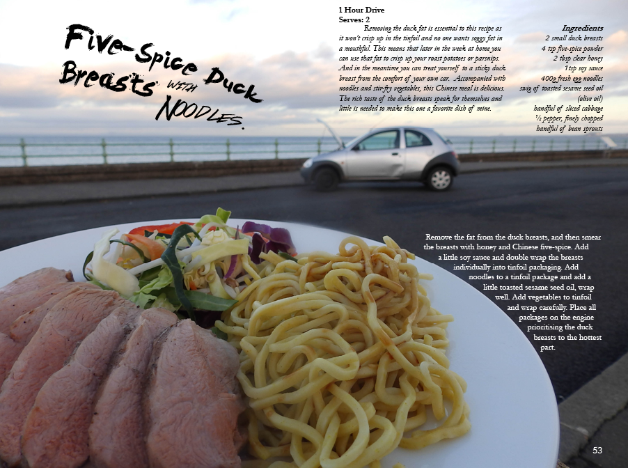 Duck breasts with noodles - 1 hour drive