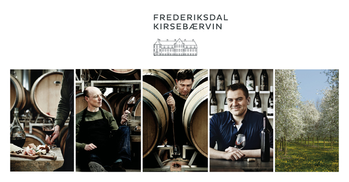 New work for the award winning independent wine makers Frederiksdal Kirsebærvin in Denmark. If you're not familiar with them already, do check them out. Their wines are beyond compare: frederiksdal.com