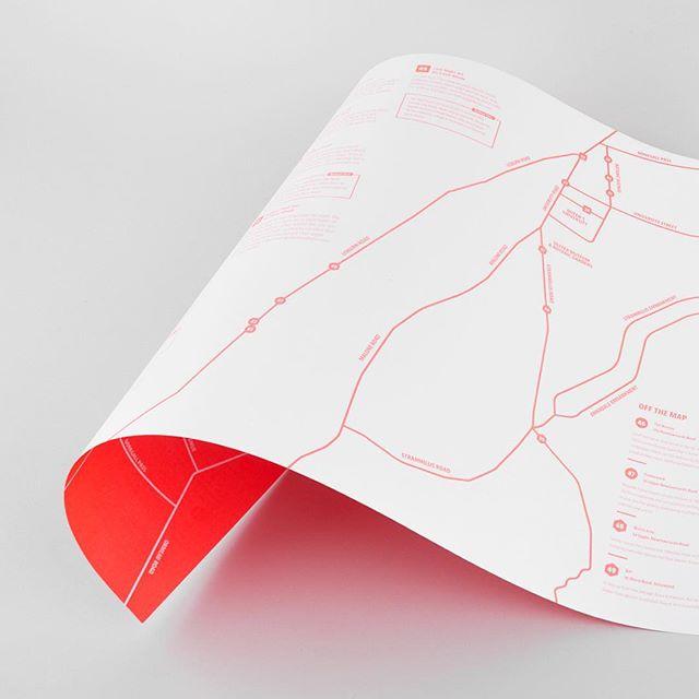 Alternative guide to Belfast printed using a neon Pantone.  #design #typography #type #branding #identitydesign #graphicdesign #flyer #vsco #vscocam #new #minimalism #minimalist #minimal #map #guide #pantone #neon #print #belfast