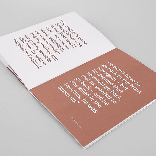 Spread 1 - Generations book  Printed on uncoated 170GSM paper using Pantone 876C Uncoated Metallic Ink  ____ #design #typography #type #branding #identitydesign #graphicdesign #booklet #vsco #vscocam #new #minimalism #minimalist #minimal #print #yoga #Belfast #book #Pantone #metallic #ink
