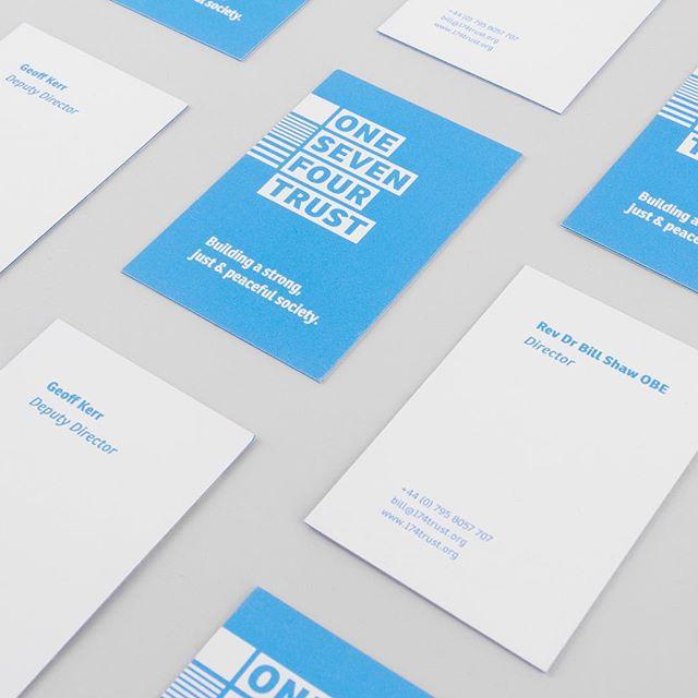 Business cards for 174 Trust identity update.  Printed by: @moo  Luxe 600GSM with blue insert  ____ #design #typography #type #branding #identitydesign #graphicdesign #business #cards #businesscards #booklet #vsco #vscocam #new #minimalism #minimalist #minimal #print #Belfast #book #Pantone #metallic #ink #print