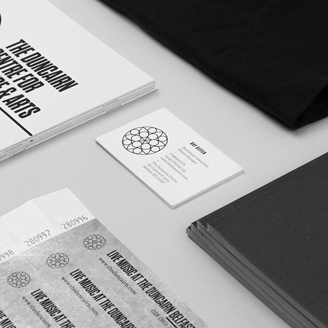 Section of various materials produced after an identity refresh for @duncairn_arts  _ Business cards printed by: @moo  _ #design #typography #type #branding #identitydesign #graphicdesign #business #cards #businesscards #booklet #vsco #vscocam #new #minimalism #minimalist #minimal #print #Belfast #print #cover #editorial #book #publication #posters wristband #website
