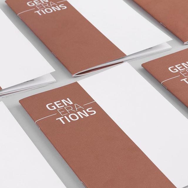 Cover - Generations booklet  Printed on uncoated 170GSM paper using Pantone 870C Metallic Ink - #design #typography #type #booklet #graphicdesign #graphic #vsco #vscocam #minimal #minimalist #minimalism #print #belfast #book #pantone #metallica #ink