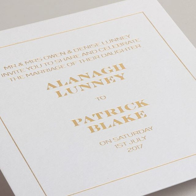 You're invited - Website update coming soon - Sneak peek of Gold foiled wedding invitations printed on Cool Grey @colorplan_papers by @gfsmithpapers - Printed by @ebony_press  #type #typography #design #graphic #graphicdesign #minimalism #minimal #minimalist #vscocam #vsco #invite #belfast #branding #identity #identitydesign #wedding #colorplan #gfsmith #hotfoilstamping #hotfoil #hotfoiling #hotfoilprinting #print #metallic