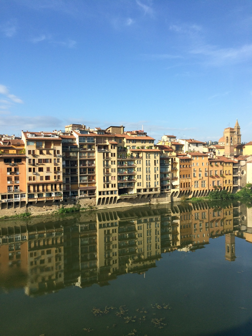 View of the Arno from the suites at Portrait Firenze