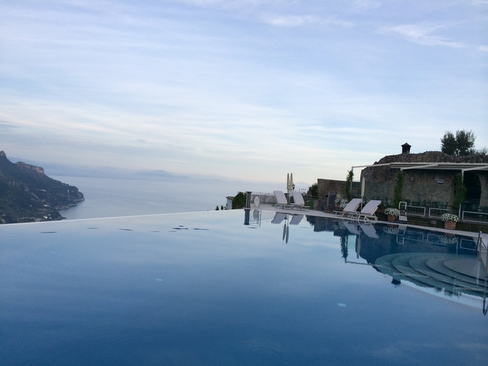 The incredible pool at Caruso, Ravello