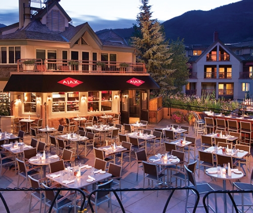 Ajax tavern is everything those that have never been to Aspen dream it is, and those that have been to Aspen look forward to returning to. It is one of those places you can literally spend the entire day at! Located at the foot of Aspen Mountain, part of the Little Nell Hotel, this spot may as well have invented the word chic.   Image via  The Little Nell