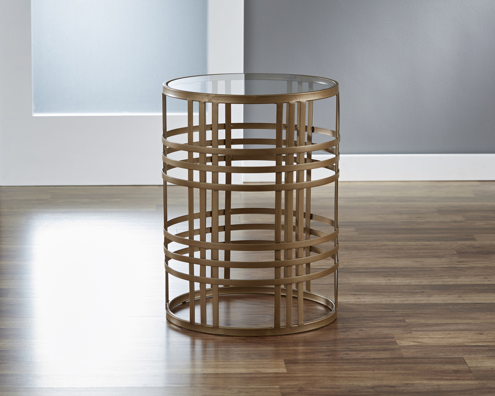 Woven Brass Table