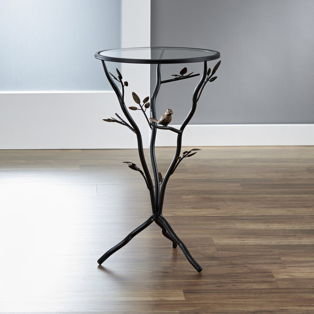 Bird and Branches Tripod Table