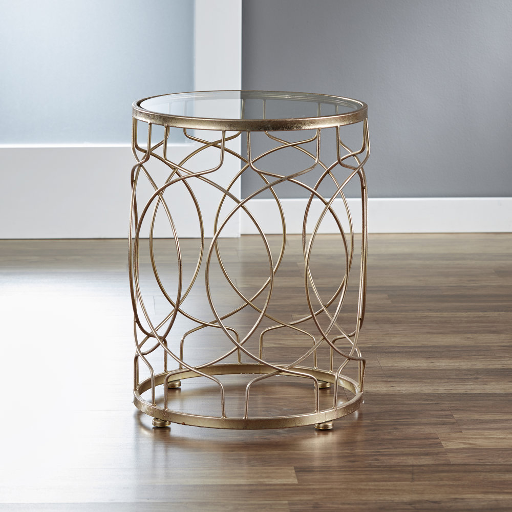 Loop Side Table in Gold