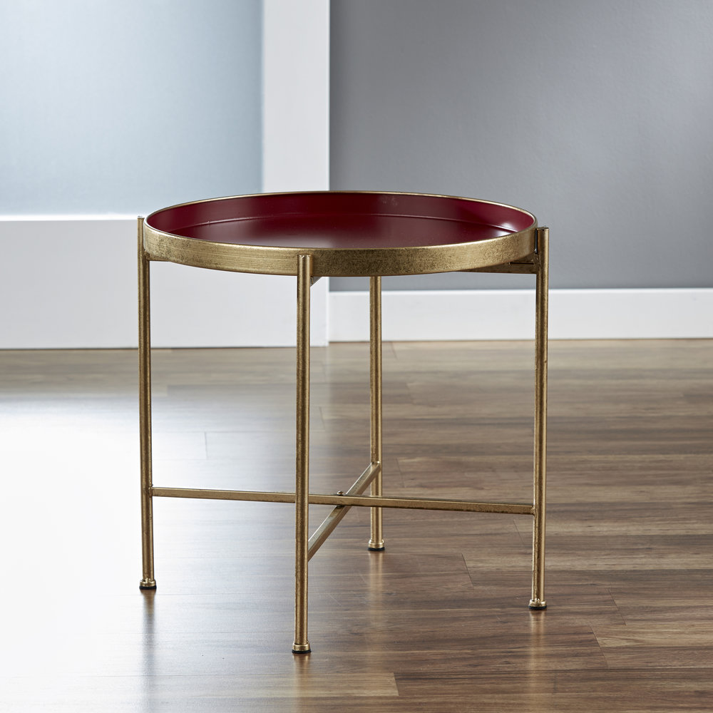 Large Gild Pop Up Tray Table in Red