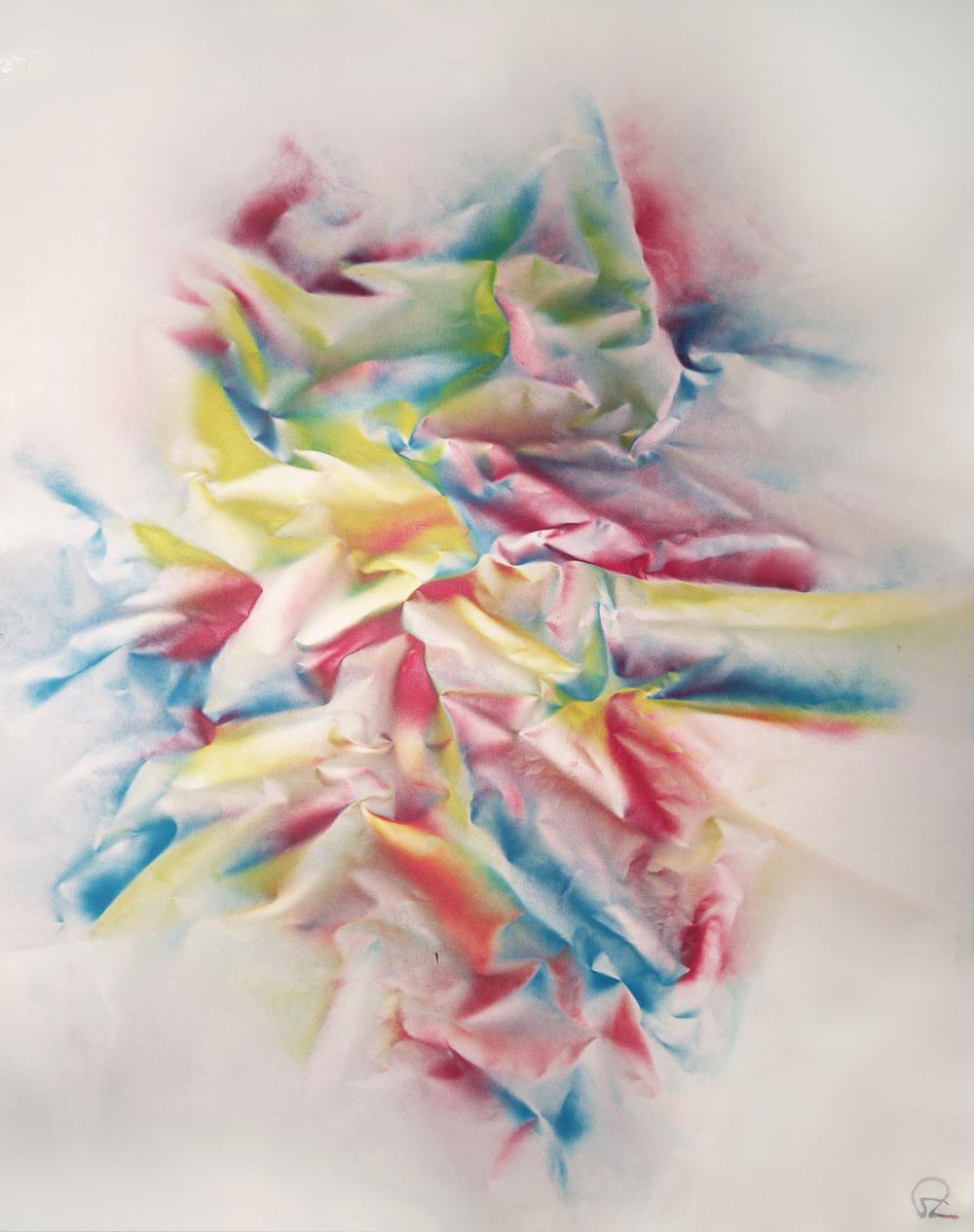 """Morphic Fields"" - Aerosol on canvas - 130cm x 104cm"