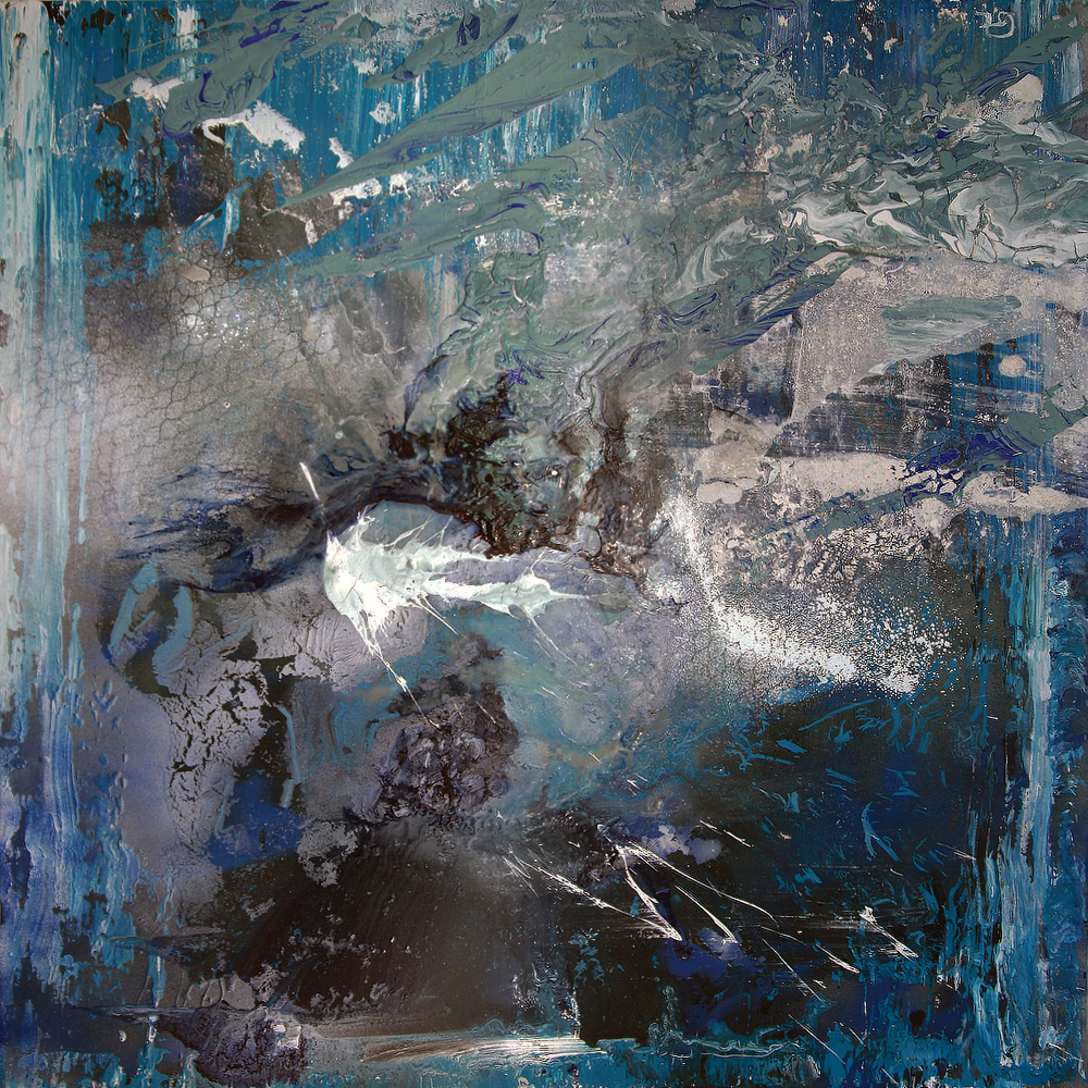 """Turmoil"" - Oils and aerosol on canvas - 101cm x 101cm"
