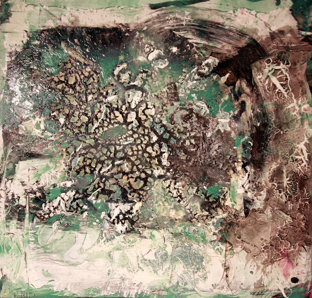 'Cryovolcano' - Oils and acrylic on cavas - 100cm x 100cm