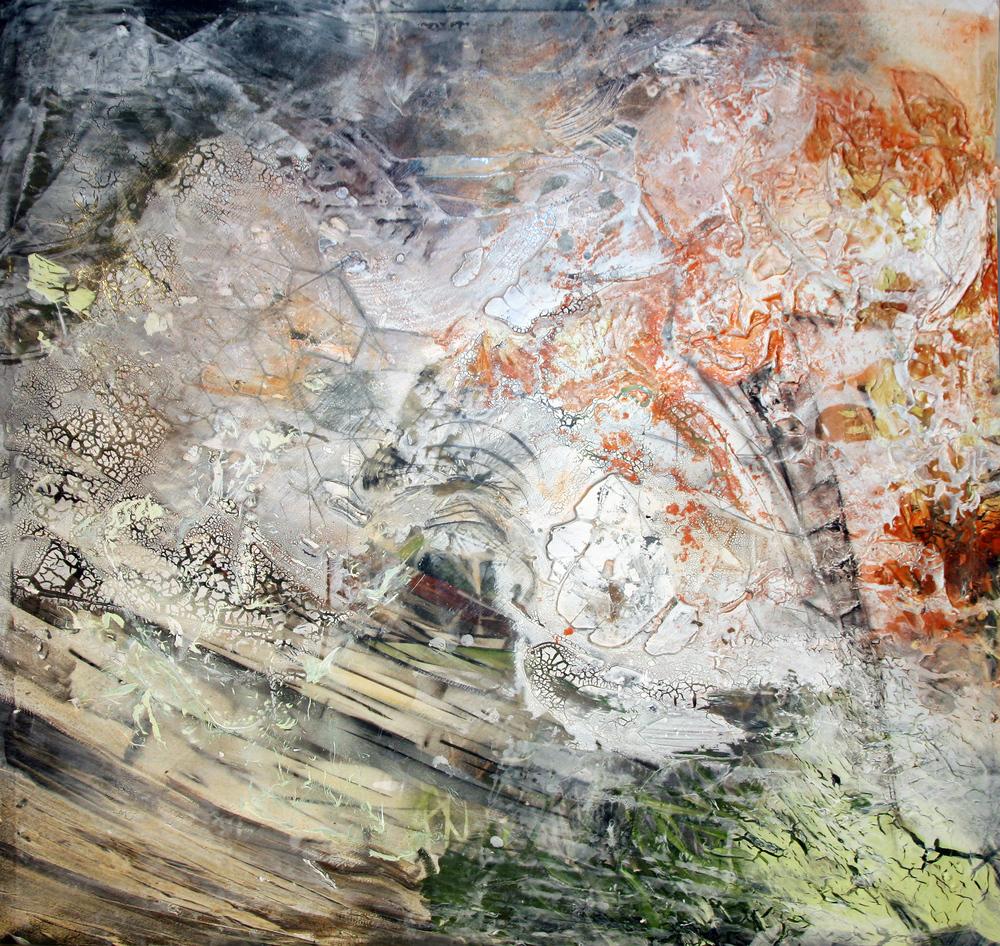 'Eden' - Oils and acrylic on canvas - 100cm x 100cm