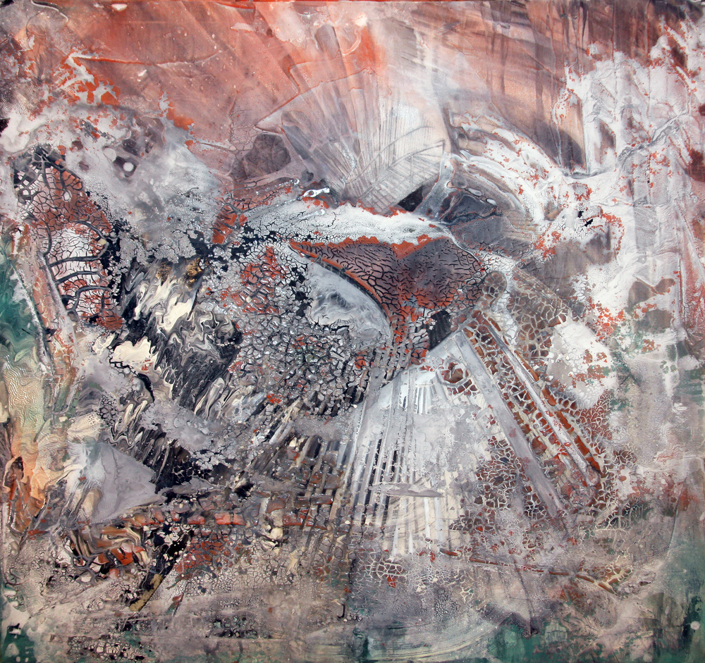 'Rise' - Mixed media on canvas - 100cm x 100cm