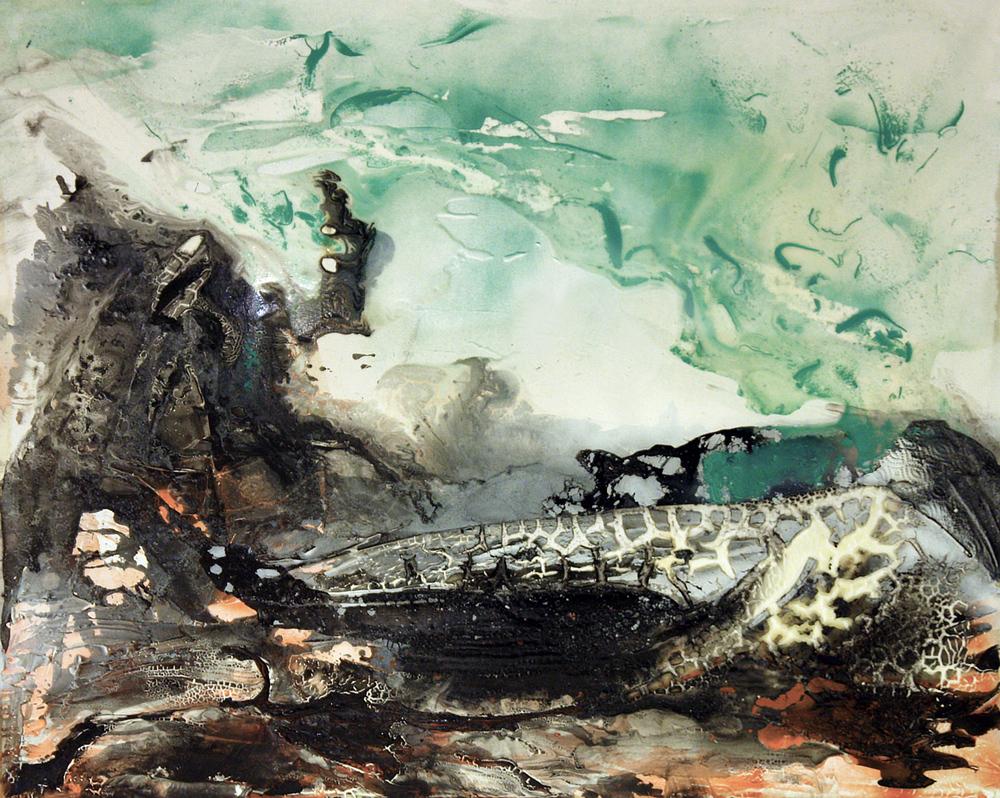 'Reloveution' -Oils, acrylic and aerosol on canvas - 102cm x 127cm