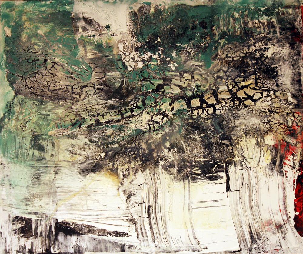 'Icyverisimilitude' - Oil and acrylic on canvas- 100cm x 120cm