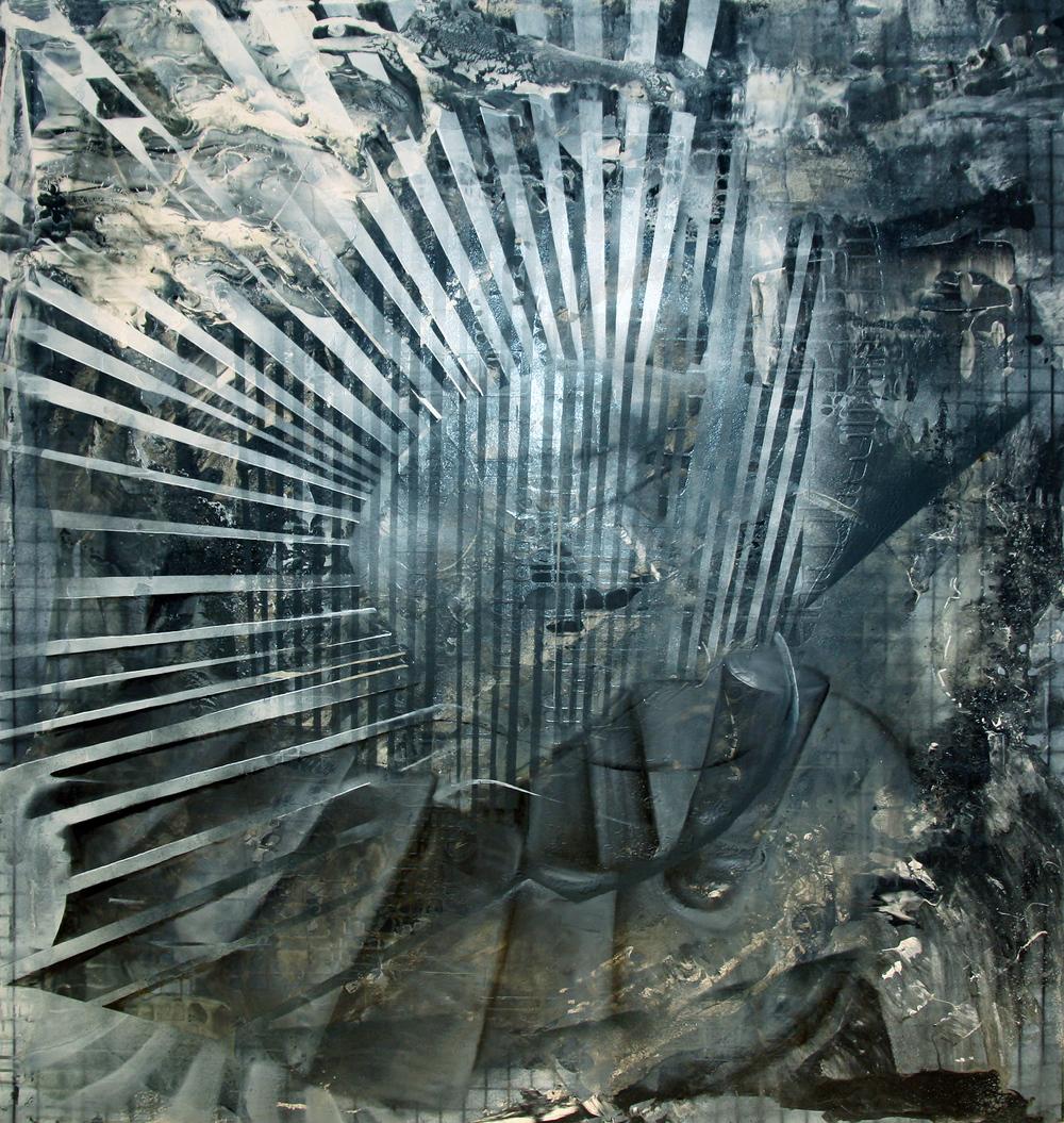 'Evolution'- Oils and aerosolon canvas - 130cm x 118cm